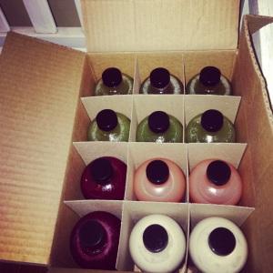 Freshly juiced and delivered for days 4-5!